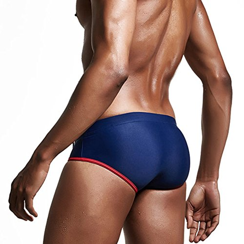 Feicuan Herren Low Waist Schwimmhose Briefs Swimwear Shorts -L15 Royal