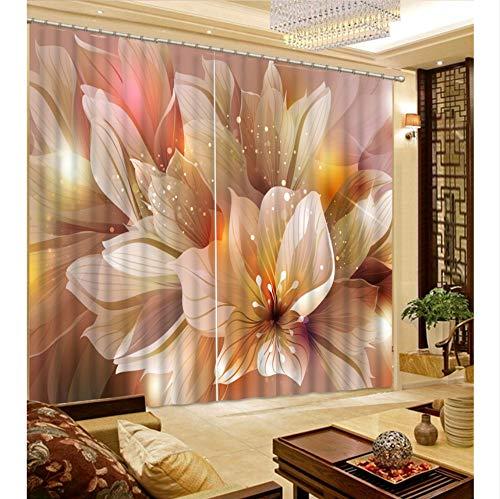 Wkjhdfgb tenda a fiori 3d fantasia tenda per tende per tende per tende da finestra per camera da letto,215x200cm