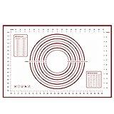 """otedes silicona Mats grande de la 23.62""""x 15.74"""", antiadherente antideslizante pastry-mat con mediciones (rojo)"""