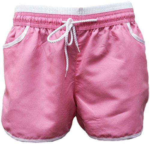 A-Express Femmes été Plage Exercice Sportif Salle de Sport Yoga Hot Pants Short Rose