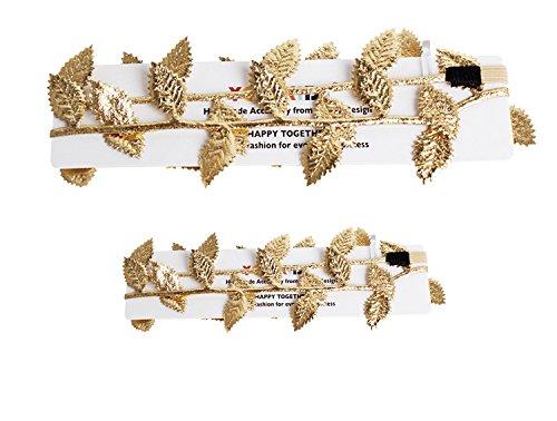 merroyal-fashion-baby-and-mom-leaf-headband-hair-bands-a-gold-2-pcs