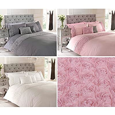 Just Contempo Rose Ruffles Filled Cushion, Cream, 12x18 inches - cheap UK light store.