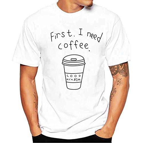 FRAUIT-Herren T-Shirt Original Druck Kurzarm Shirt Basic Rundhals Sommer T-Shirt Casual Oversize Kurzarmhemd Weich Lose Oberteil Kleidung Bluse Tops Mehrere Stile S-4XL 100% Baumwolle -