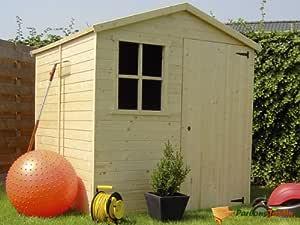 Abri de jardin en bois traité Paco 3,27m²
