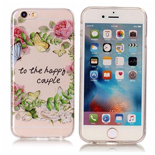 """Hülle für Apple iPhone 6S Plus / 6 Plus , IJIA Transparent Schädelkopf TPU Weich Silikon Stoßkasten Cover Handyhülle Schutzhülle Handytasche Schale Case Tasche für Apple iPhone 6S Plus / 6 Plus (5.5"""") XS78"""