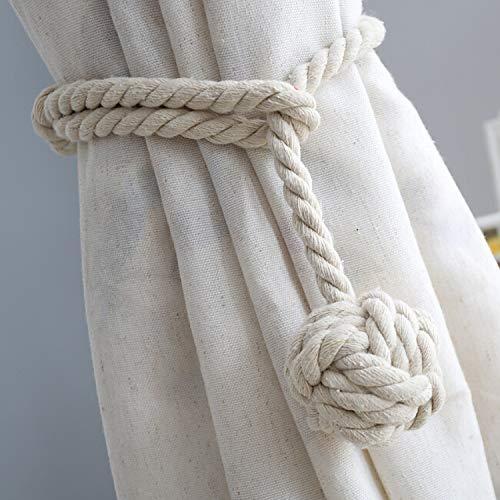 Do4U - Un par de cordones artesanales para cortinas, cordones hechos a mano con una bola en un extremo.