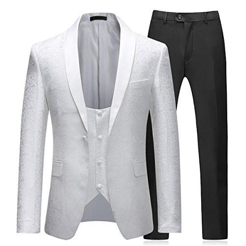 Schlanke und die hat einreihige Anzughemd und hose und geeignet für die Hochzeit (Schlanken Anzug)