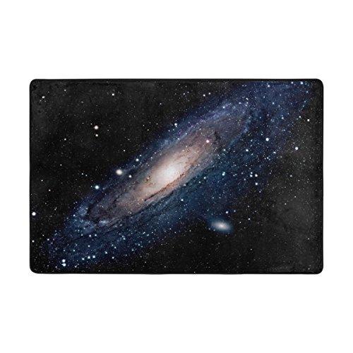 Ingbags Nuit Nebula Universe Meteor Starry Système solaire Salon salle à manger Zone Rugs 3 x 2 pieds Chambre Rugs Bureau Tapis moderne Tapis de sol Tapis Home Decor, multicolore, 6 x 4 Feet