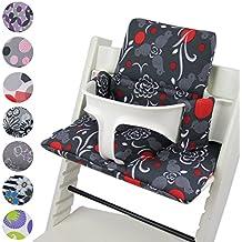 BambiniWelt Cojín de asiento para trona Stokke Tripp trapp * 20colores * cojín de repuesto, 2piezas