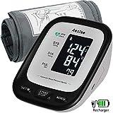 Tensiomètre Electronique Bras, Tensiomètre Numérique Mesure Automatique de la Tension Artérielle et du Rythme Cardiaque, Tensiomètre Rechargeable de Haute Précision