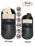 Auto Schlüssel Signal Blocker Tasche - Tuisy Signal Blocker Tasche RFID Schlüsselloser Eintritt Fob Schutz Strahlung Schild Tasche für Smartphone Privatsphäre Sicherheit EMF Schutz, Faradaysche Tasche, WIFI/GSM/LTE/NFC Blocker (2-Pack, XX Groß und Mittel)