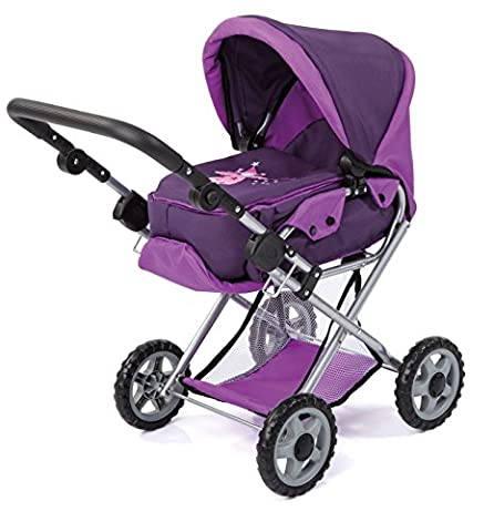 Bayer Design 13912AA - Kombi-Puppenwagen Maxi, lila, dunkel lila