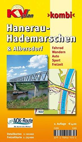 Preisvergleich Produktbild Hanerau-Hademarschen & Albersdorf: 1:10.000 Gemeindepläne mit Freizeitkarte 1:25.000 inkl. Rad- und Wanderwegen (KVplan Schleswig-Holstein-Region / http://www.kv-plan.de/Schleswig-Holstein.html)