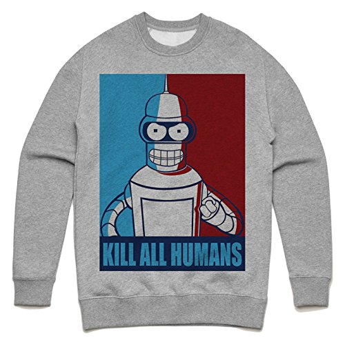 Bender Futurama art Unisex Sweater Grau