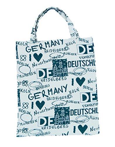 Bowatex Sac cabas sac pochette en tissu Shopper Bag poche de bistro Tapisserie royaltex Signare Motif Allemagne dans vert FA