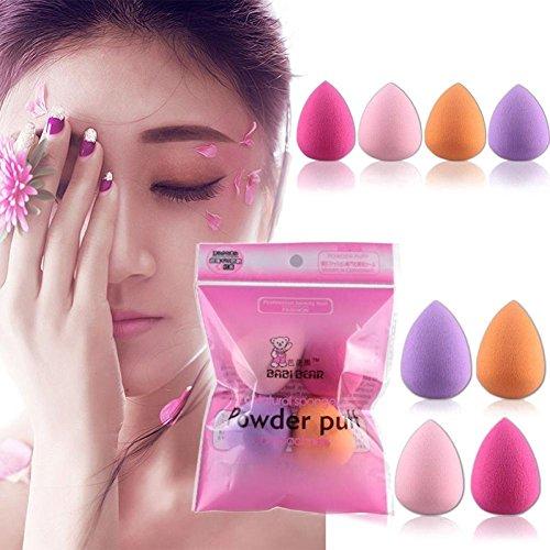 éponges Maquillage, Frenchenal 2018 4PCS Pro Beauté Maquillage Blender Foundation Puff multi-formes éponges