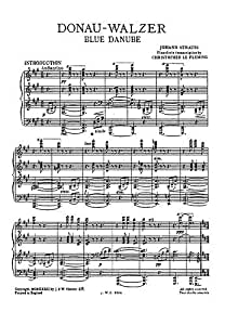 Johann Strauss II: The Blue Danube Waltz For Piano. - Partitions