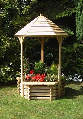 Wooden Garden Wishing Well Planter OGD100