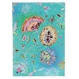 Goldbuch Notizbuch A5, Silver Moon Green, 200 chamoisfarbene Blankoseiten, Kunstdruck mit Goldprägung und Relief, Grün, 64284