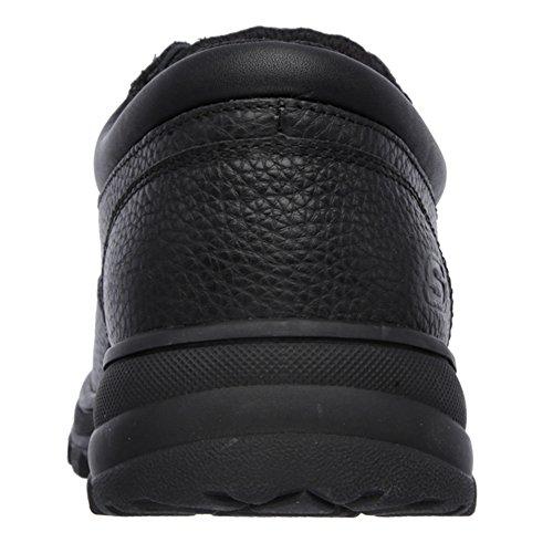 Skechers For Work 77047 Workshire Corpus Steel Toe Work Shoe Black Embossed Leather