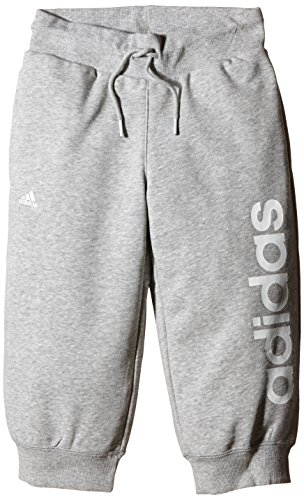 Adidas Essentials Linear Pantalon 3/4 pour fille Gris - Gris/blanc
