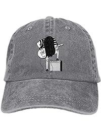 d51af4eab08e2 Gorras de béisbol Hat Trucker Cap Cap Hat Rock and Roll Six-Panel 3D Print  Adjustable Baseball Hat for Unisex…