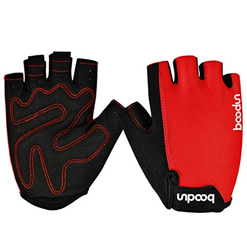 Price comparison product image Knbob Sports Gloves for Men Riding Gloves Summer Exercise & Fitness Microfiber Red X-Large