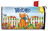 Best Briarwood Lane Garden Decors - Welcome Cat Spring Mailbox Cover Floral Kitty Fence Review