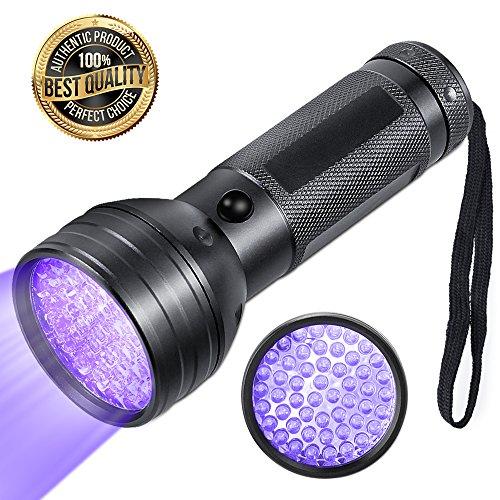 LED UV Schwarzlicht Taschenlampe mit 51 LED,Solocil UV-Schwarzlicht Wellenlänge 395nm für falsche Papiergeld oder eingetrocknete Urin-Flecken der Haustiere auf Teppichen, Vorhänge