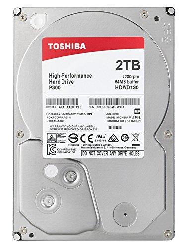 TOSHIBA P300 Interne Festplatte 2 TB – 3,5 Zoll (8,9 cm) – SATA Festplatte intern (HDD) – 7200 rpm (U/min) – 6 Gb/s – für Gaming-Computer, Desktop-PCs, Workstations etc. (Festplatte 3 Tb 7200 U / Min)
