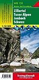 Freytag Berndt Wanderkarten, WK 151, Zillertal - Tuxer Alpen - Jenbach - Schwaz - Maßstab 1:50.000