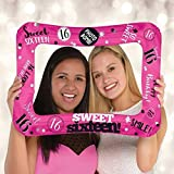 Amscan International 110350-01 Foil balloonFrame:Selfie Frame Sweet Sixte