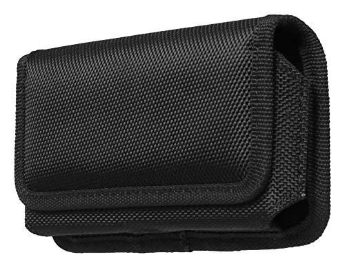 aq mobile custodia orizzontale con clip per cintura - taglia xl per cellulare/smartphone con schermo 6,5 - in tessuto
