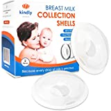 Kindly Products Breast Shells - Nursing Cups - Milk Saver - Collect Breast Milk And Protect Sore Nipples - Soft & Comfortable Silicone - Safe, Reusable And Easy To Clean, Set Of 2