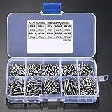 340PCS set di dadi e bulloni, viti e dadi ruota, M3in acciaio INOX esagono incassato Button testa viti bulloni dadi assortimento kit (180PCS viti e dadi 160PCS)