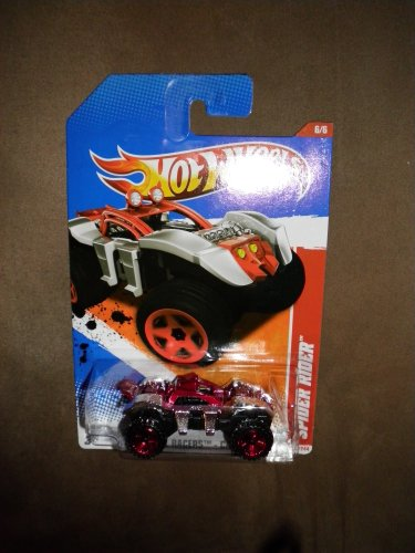 2011 HOT WHEELS THRILL RACERS CAVE 210/244 SILVER & RED SPIDER RIDER 6/6 by Hot Wheels -