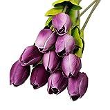 Plantas y flores artificiales Sanysis 1 x 10 pcs Artificial flor para la decoración de la boda de la fiesta en casa ramos de flores (Púrpura) - Sanysis - amazon.es