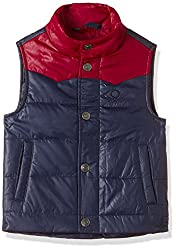 United Colors of Benetton Boys Jacket (16A2WU05G050G901EL_Navy Blue)