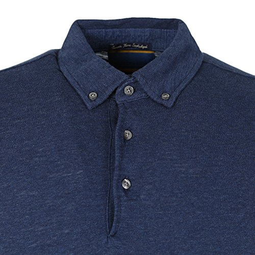 Scotch & Soda Herren Poloshirt Denim Blue Melange Denim Blue Melange