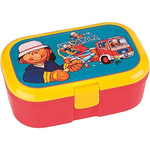 Lunchbox * FEUERWEHRMANN * für Kinder von Lutz Mauder // Feuerwehr Brotdose mit herausnehmbaren Extra-Fach // Perfekt für Mädchen & Jungen // Vesperdose Brotzeitbox Brotzeit (ohne NAMEN)
