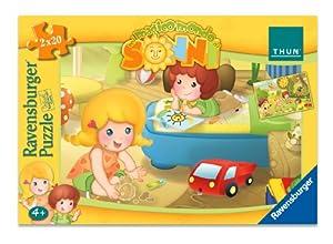 Ravensburger 89963 Gioca con Mia e Leo - Set de 2 puzzles (20 piezas cada uno)