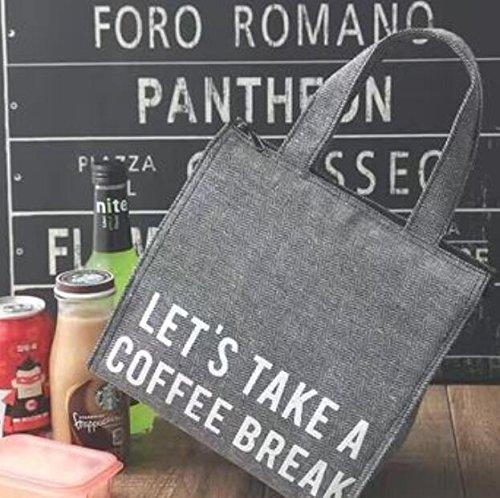 PuTwo Sac Isotherme Sac Repas Pour Déjeuner Pliable Lunch Bag de Voyage - Tweed Gris