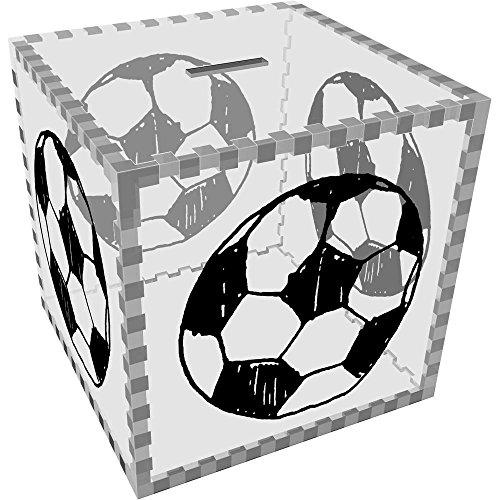 Azeeda Groß \'Fußball\' Klar Sparbüchse / Spardose (MB00042298)