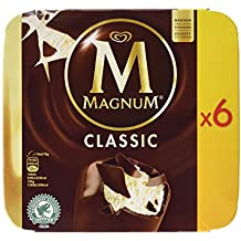 Magnum - Clásico - Helado de Vainilla con Chocolate con Leche - 6 ...