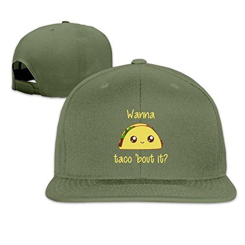 maneg-wanna-taco-bout-it-unisex-fashion-cool-ajustable-snapback-gorra-de-beisbol-sombrero-un-tamano