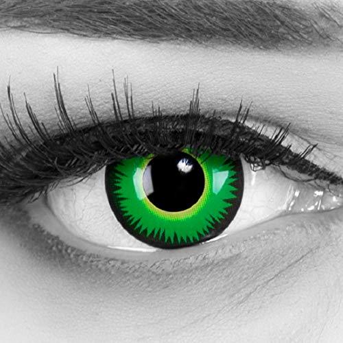b1d287a40da12 Farbige grüne Kontaktlinsen ohne Stärke crazy Kontaktlinsen crazy contact  lenses Green Werewolf grün Werewolf 1 Paar