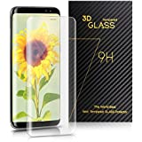 Film Protection Samsung Galaxy S8 – TOPLUS Protection Ecran Samsung Galaxy S8 3D Incurvé en Verre Trempé Haute Définition Anti-casse (Transparent)