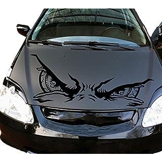 Auto Aufkleber Skull Schädel Augen Eyes Schwarz KLEIN