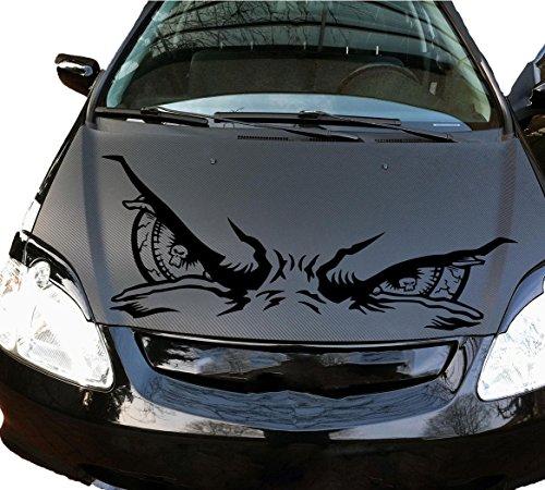 Auto Aufkleber Skull Schädel Augen Eyes Silbergrau GROSS -