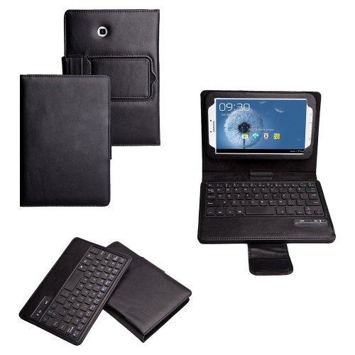 Invero® Leder Bluetooth-Tastatur Hülle Etui mit Standfunktion für Samsung Galaxy Tab 3 8.0 Inch SM-T3100 SM-T3110